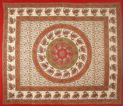 Elephant Mandela Style Printed Hippie Tapestry