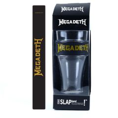 Megadeth Gold Logo Heavy Duty Slap Band Pint Glass