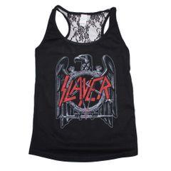 Slayer Eagle Lace Back Juniors Tank