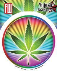 Frank Wiedemann Psychedelic Potleaf Sticker