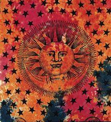 Multi Color Tie Dye Solar Eclipse Tapestry