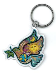 Dan Morris Peace Dove Key Chain
