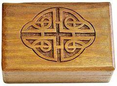 Celtic Carved Wood Box