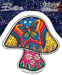 Dan Morrris Celestial Butterfly Mushroom Sticker