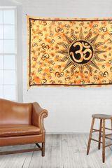 Om (Aum) Sun Tie-Dye Tapestry