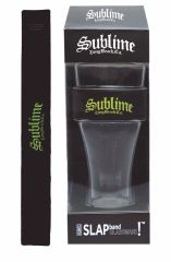 Sublime Yellow Logo Heavy Duty Slap Band Pint Glass