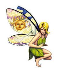 Dan Morris Pretty Blond Fairy Sticker