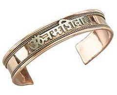Om Namah Shivaya Tibetan Copper Bracelet