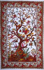 White Tree of Life Tapestry