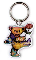 DAN MORRIS GRATEFUL DEAD DANCING ROSE BEAR KEY CHAIN