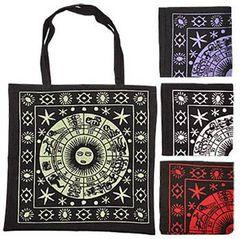 ZODIAC DESIGN PRINT SHOPPING BAG