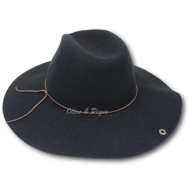 059745dc74d595 Black Peter Grimm Wool Felt Safari Style Floppy Hat | Rad Hippie