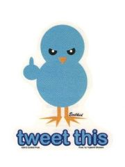 Evilkid Tweet This Blue Bird Sticker