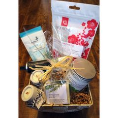 Relax and Revive Rosemary Mint Spa Basket