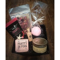 Pink Rose Spa Basket