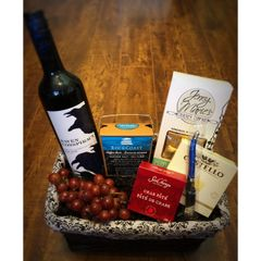 Wine and Cheese Basket - Medium - 2 options