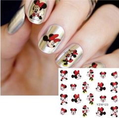 Waterslide Decal (YZW123) Minnie Mouse