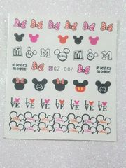 Water Slide Decal (CZ006) Mickey & Minnie