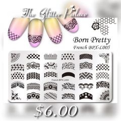 Born Pretty Stamping Plate ( French BPX-L005)
