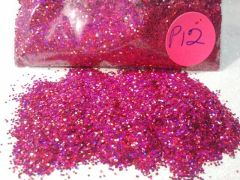 P12 Holographic Burgundy (.025) Solvent Resistant Glitter