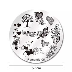Stamping Plate - (ND05) Romantic 05