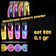 4 Piece Duochrome Unicorn Powder Set (0.1 gr ea)