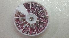 Rhinestone Wheel Large #4 (all pink different sized rhinestone)