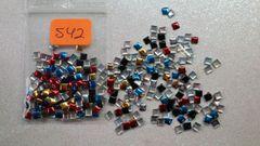 Stud #42 -S42 (mixed metallic square stud)