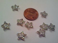 3D Star #2 Metal Star with Rhinestones nail charm (pack of 2)