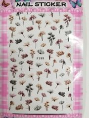 Fall Flower Stickers (F199)