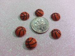 3D Basketball #1 Sports Charm for Decoration (pack of 3)