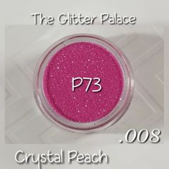 P73 Crystal Peach (.008) Solvent Resistant Glitter
