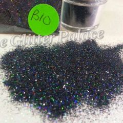 B10 Holo Black (.008) Solvent Resistant Glitter