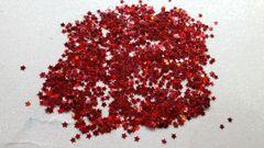 IN36 Fire Red 1/8th Star Glitter Insert (1.5 gr baggie)