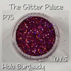 P75 Holo Burgundy (.015) Solvent Resistant Glitter