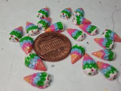 3D Food - Ice cream #1 Cone (pack of three) Nail decorations