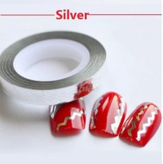 Zig Zag Striping Tape Silver