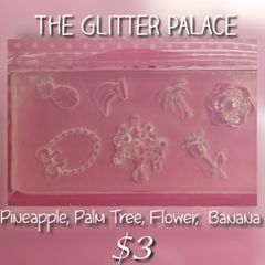 3D Mold - #M49 Pineapple, Palm Tree, Rose to make your own 3D Decorations
