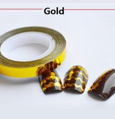 Zig Zag Striping Tape Gold