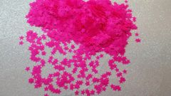 IN44 1/8th Neon Pink Star Glitter Insert (1.5 gr baggie)