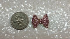 3D Bow #51 (large pink rhinestone bow)(pack of 2)