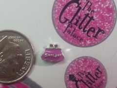 Charm #FL71 - Pink purse (1piece)(perfect for nails, or living & floating lockets)