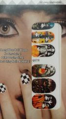 Sticker (Q078) Halloween nail decoration
