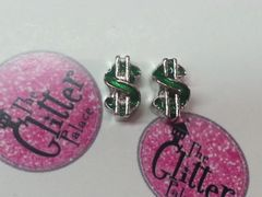 Charm #FL67- Green Dollar Sign (1piece)(perfect for nails, or living & floating lockets)