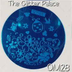 Stamping Plate (OM28) Ladybug, Owl, Birds & Flowers