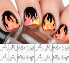 Flame Nail Vinyl