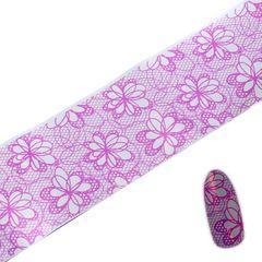 Pink & Silver flower lace foil #2