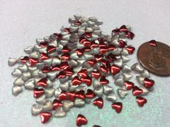 3D Heart #9 (5 colors available) Metal Heart Studs (pack of 50)