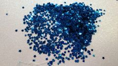 IN47 1/8th Royal Blue Star Glitter Insert (1.5 gr baggie)