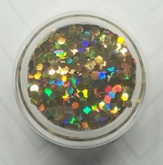 GO20 Holographic Gold (.062) Solvent Resistant Glitter